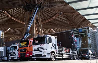 A fleet of lorries